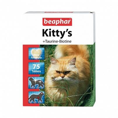 Витамин Беафар для кошек 75 табл., 1 уп., ТАУ+БИО сердечки