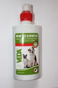 Шампунь фитоэлита инсект. для кошек и собак 220 мл