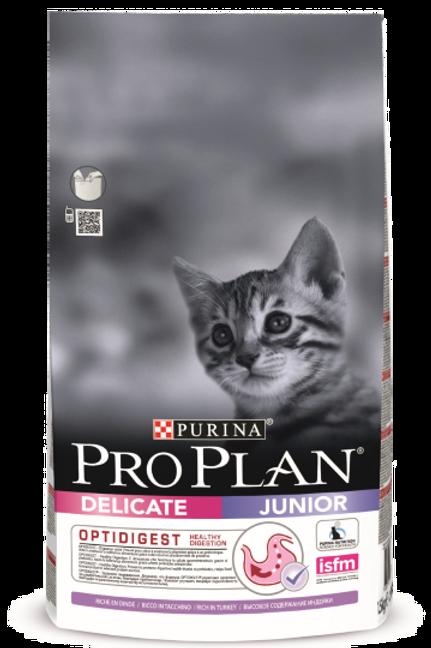 Сухой корм Purina Pro Plan Junior Delicate для котят с чувствительным ЖКТ