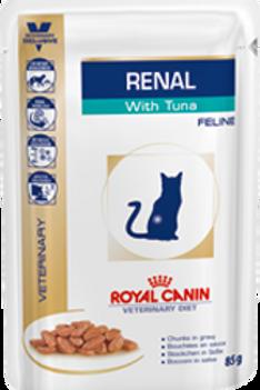 Влажный корм Royal Canin Renal c тунцом (пауч) для кошек с почечной недостаточ.