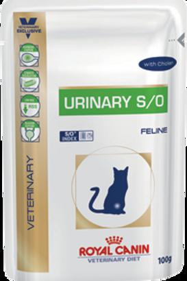 Влажный корм Royal Canin Urinary S/O (пауч, с курицей) для кошек при МКБ
