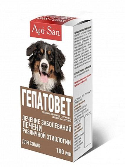 Гепатовет для собак 100 мл, 1 шт., Апи-Сан