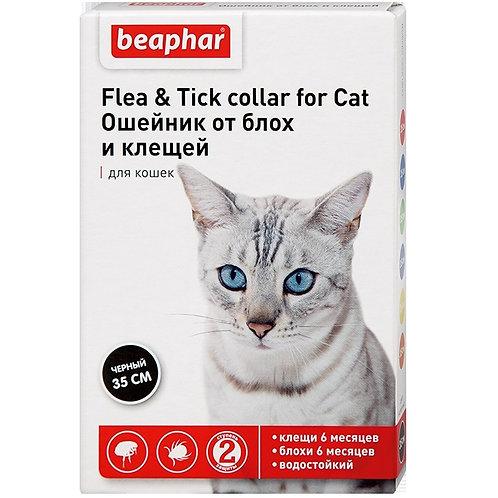 Ошейник Беафар от блох для кошек 35 см, ЧЕРНЫЙ, 1 шт