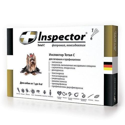 Капли Инспектор для собак 1-4 кг, 1 пипетка, Экопром