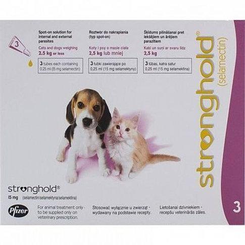 Капли Стронгхолд для котят и щенков менее 2,5 кг, 1 пипетка, Зоэтис