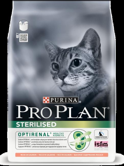 Сухой корм Pro Plan Sterilised для стерилизованных кошек лосось