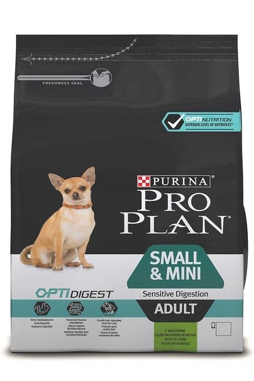 Сухой корм 700 гр ProPlan OPTIDIGEST для собак мелких/карликовых с ягненком
