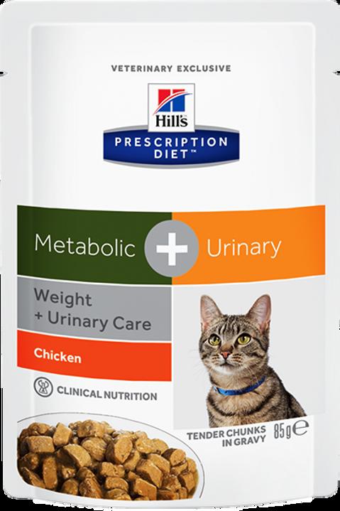 Корм влажный Hill's Prescription Diet Metabolic + Urinary Feline Курица