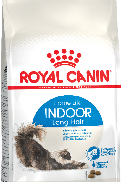 Сухой корм Royal Canin Indoor Long Hair для длинношерстных кошек от 1 года