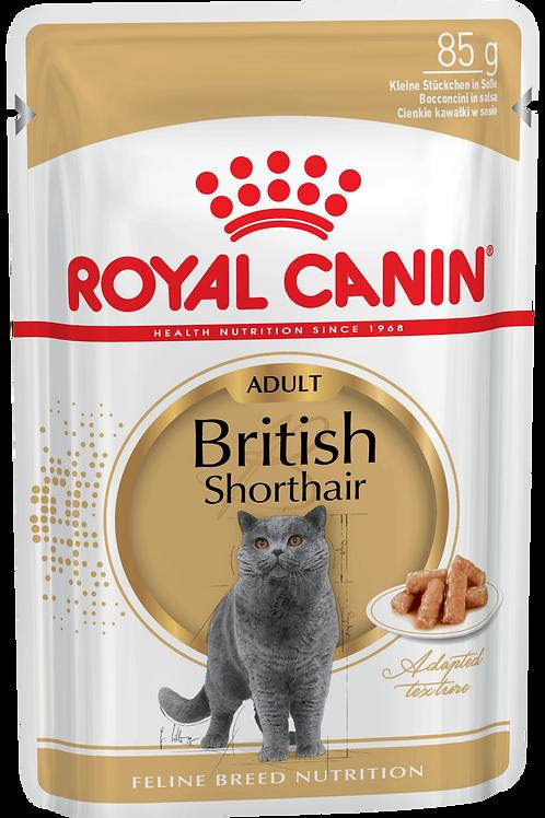 BRITISH SHORTHAIR ADULT (В СОУСЕ)* Влажный корм для кошек британской породы