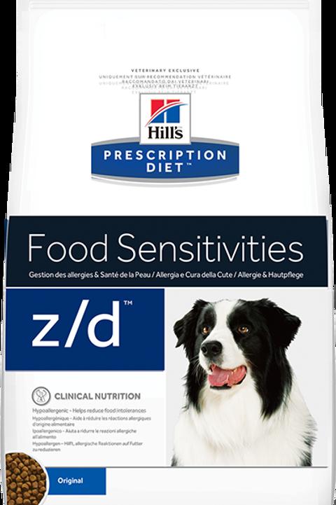 Корм сухой 3 кг HILL'S Diet Canine z/d для собак с пищевой аллерг-й