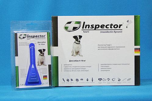 Капли Инспектор для собак 4-10 кг, 1 пипетка, Экопром