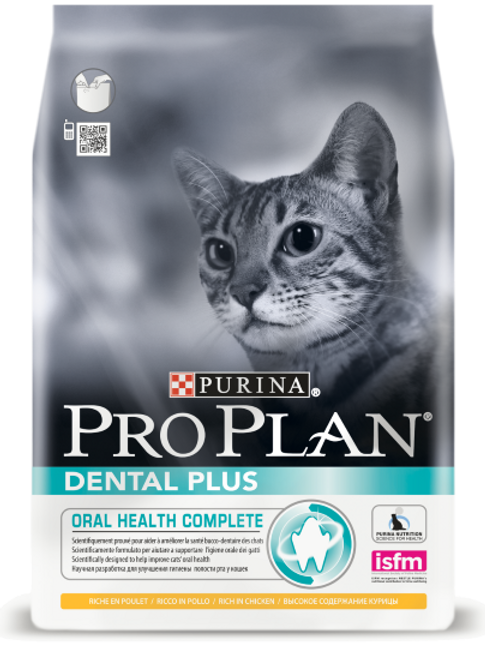 Сухой корм 400 гр Purina Pro Plan Dental Plus для взрослых кошек с курицей