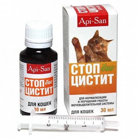 Стоп Цистит БИО суспензия для кошек 30 мл, 1 шт., Апи-Сан