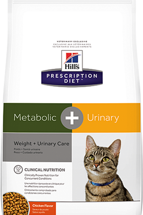 Корм сухой 1.5 кг Hill's Diet Metabolic + Urinary Feline Курица (26%)