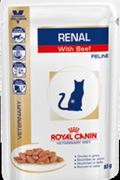 Влажный корм Royal Canin Renal с говядиной пауч для кошек с почечной недост