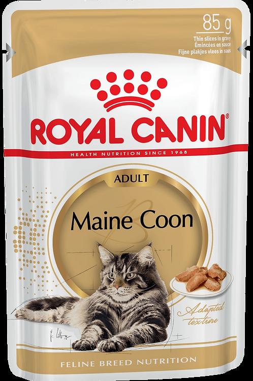 MAINE COON ADULT (В СОУСЕ)* Влажный корм для кошек породы мейн-кун старше 15 мес