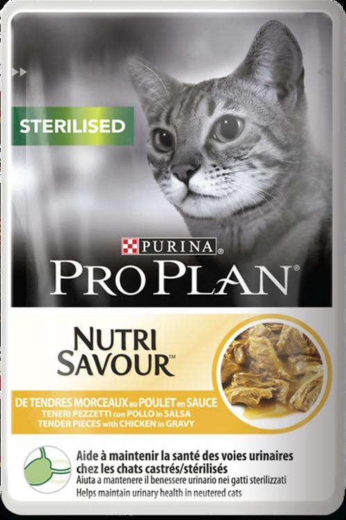 Влажный корм Purina Pro Plan NUTRISAVOUR Sterilised для кошек с курицей