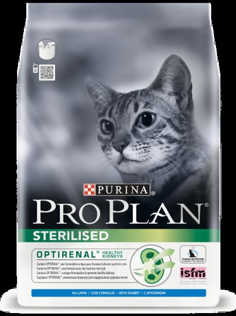 Сухой корм Pro Plan Sterilised для стерилизованных кошек с кроликом