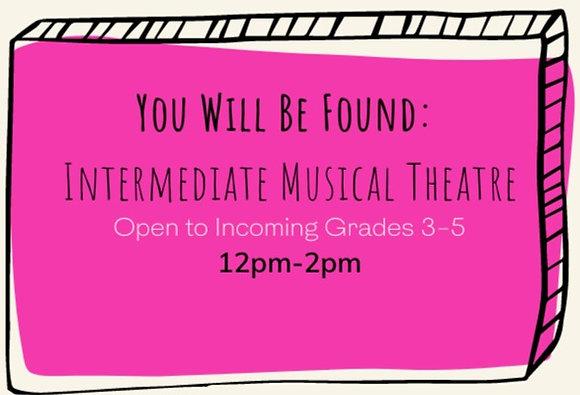 July Session: Intermediate Musical Theatre