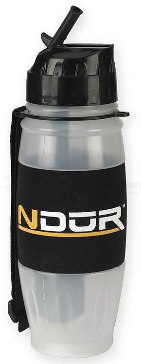 NDUR-28oz Clear Flip Top Bottle w/Filter