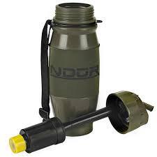 NDUR-28oz OD Green Flip Top Bottle w/Filter