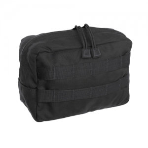 HORIZONTAL ZIPPERED UTILITY POUCH-Black/Coyote