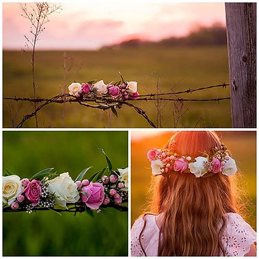Photos of my floral crowns taken by the