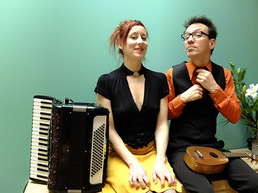 Michel et Yvette humour musical accordéon et ukulélé