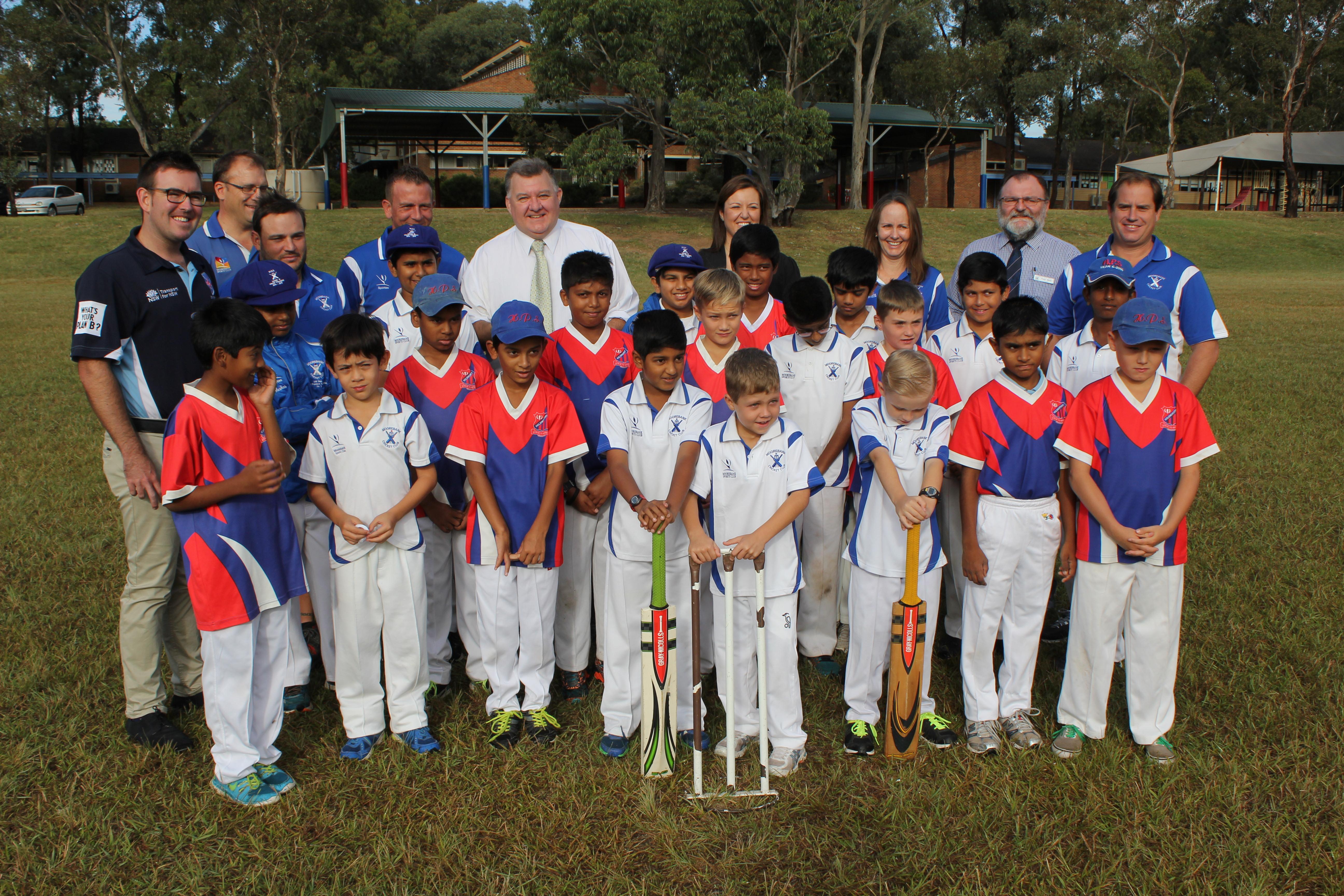 Craig with Cricket Team