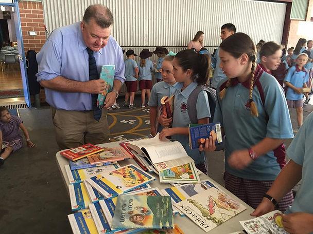 Craig giving Books