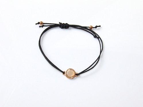 Armband schwarz Beige