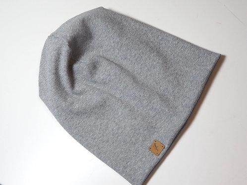 Mütze Beanie Hellgrau Rippe