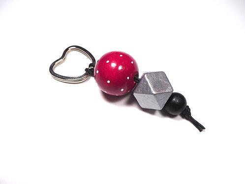 Schlüsselanhänger Apfel Pink