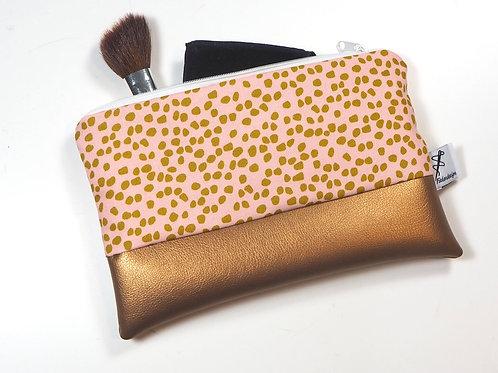 Kosmetiktasche  rosa Dots  Kupfer