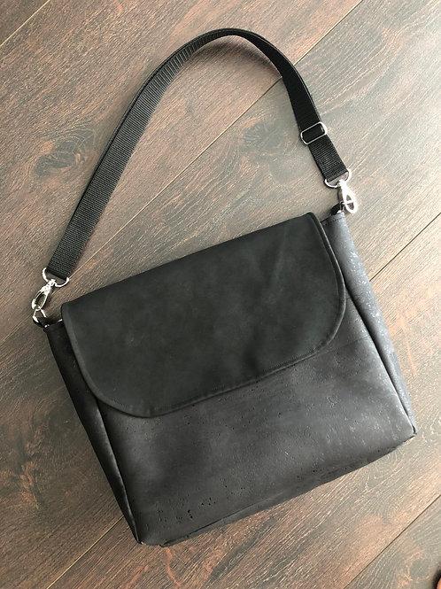 Handtasche Kork Schwarz