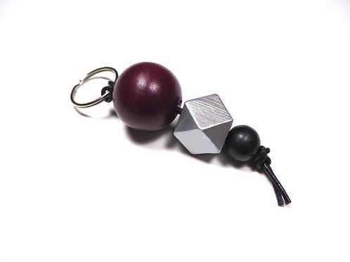 Schlüsselanhänger Kugel Bordeaux