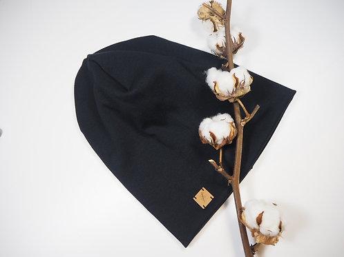 Mütze Beanie schwarz Rippe