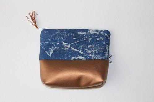Kulturtasche  Jeans Kupfer