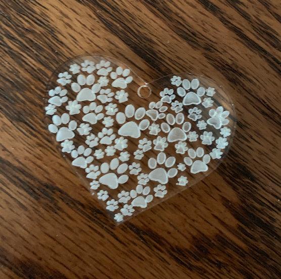 Paw Heart Key Chain