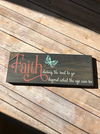 Faith, daring the soul to go beyond what the eye can see School