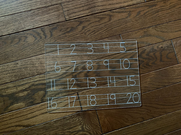 Number Tracing Aid