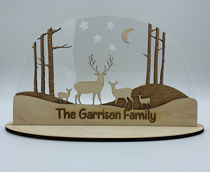 Deer Family Sign