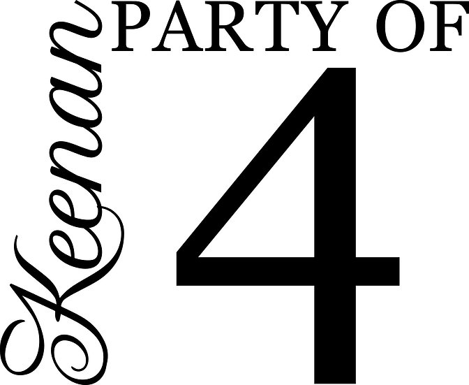 Personalized Party of - Party