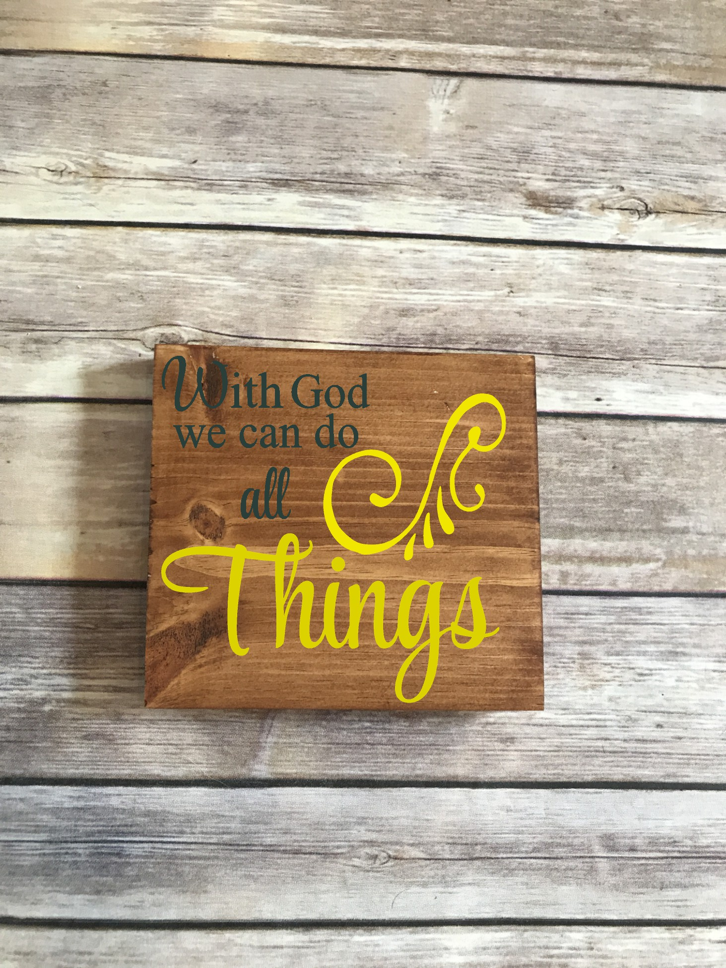 With God, we can do all things