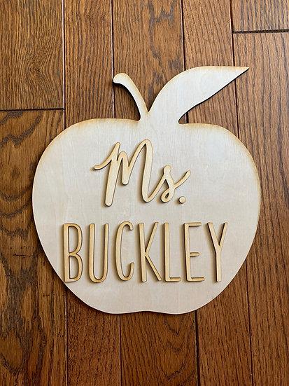 Teacher Apple DIY