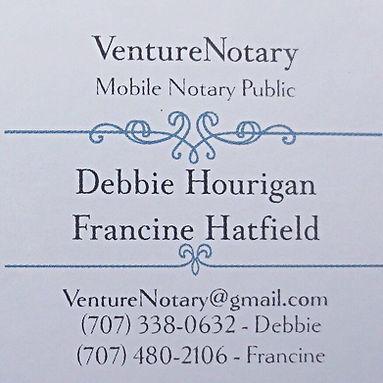 Mobile Notary serving Petaluma, Sonoma, Marin