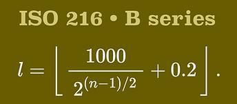 ISO216-B SERIES
