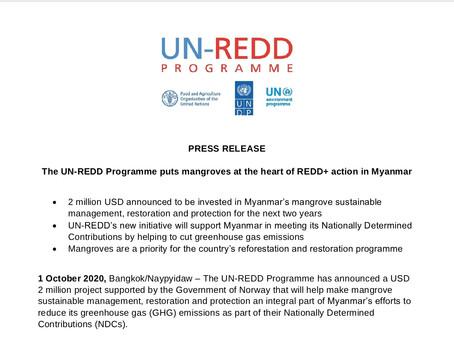 PRESS RELEASE: Myanmar Mangrove Initiative