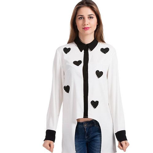 Kalpli Beyaz Gömlek